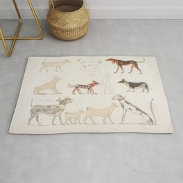 Egyptian Dog Breeds Rug