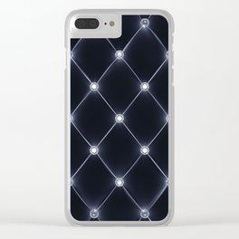Velvet upholstery pattern Clear iPhone Case