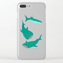 Teal Whale Shark Clear iPhone Case