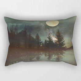 Midnight Fireflies Rectangular Pillow
