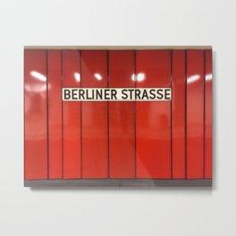 Berlin U-Bahn Memories - Berliner Strasse U7 Metal Print