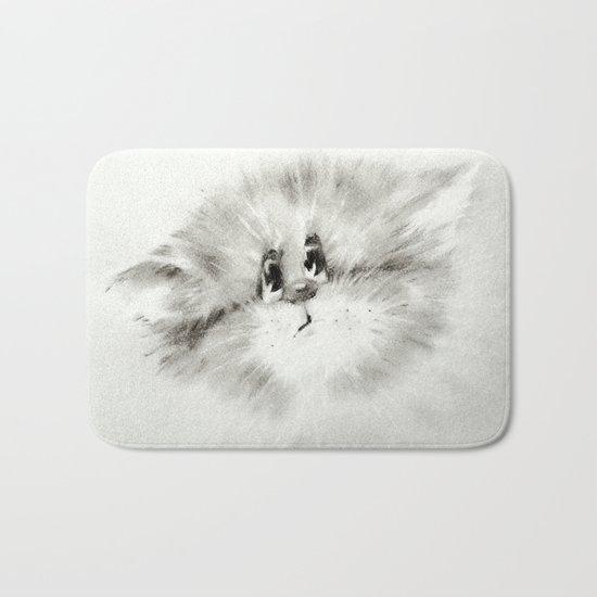 Surprised kitty Bath Mat