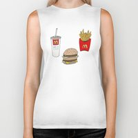 mac Biker Tanks featuring Big Mac by Onvit Kwon
