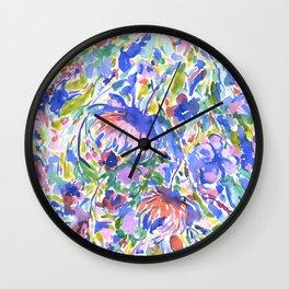Maximal Floral Wild & Free Wall Clock