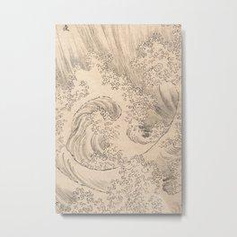 Wave by Katsushika Hokusai 1760–1849, Japanese Metal Print