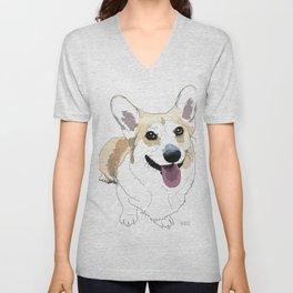 Corgi dog Unisex V-Neck