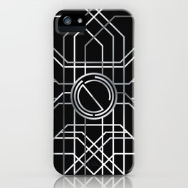 Silver Deco iPhone Case