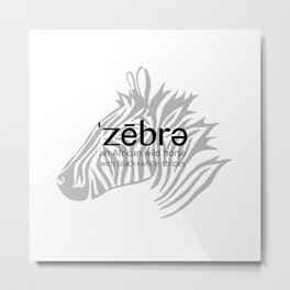 Zebra Defined Metal Print