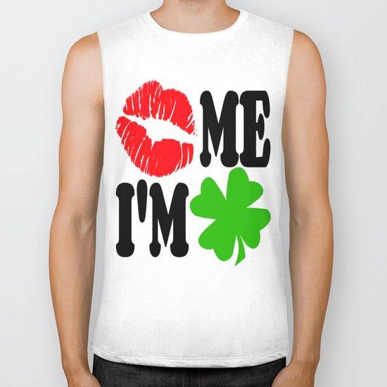 Kiss Me I'm Irish Biker Tank
