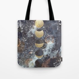 Lunar Phases Tote Bag