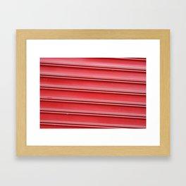 Red garage door Framed Art Print