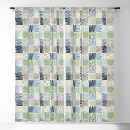 Jungle Set | hand illustrated quilt pattern Blackout Curtain
