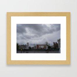 Berlin clouds Framed Art Print
