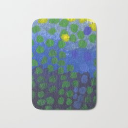 GREEN DOTS, A LITTLE ABSTRACT Bath Mat