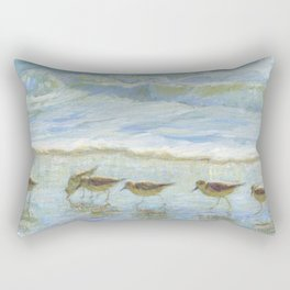 Sandpipers, A Day at the Beach Rectangular Pillow