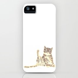 Cheeky Kitty Cat iPhone Case