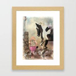 Princess Puddles and Sir Stamp Alot Framed Art Print