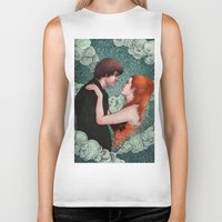 eternal sunshine of the spotless mind Biker Tanks featuring Eternal Sunshine - Meet Me In Montauk by Angela Rizza