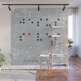 Jesus Saves Braille Wall Mural
