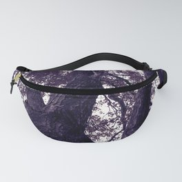 Ultra Violet Winter Trees Fanny Pack