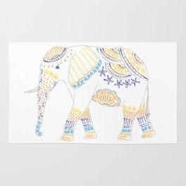 Decorated Elephant Rug