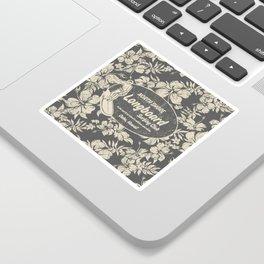 Club Surfing Longboard Logo and Hibiscus Hawaiian Print  Sticker