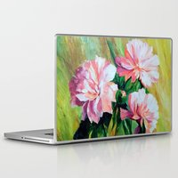 peonies Laptop & iPad Skins featuring Peonies by OLHADARCHUK
