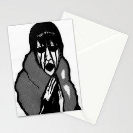 """Fluffy Manson"" in Black&White Stationery Cards"