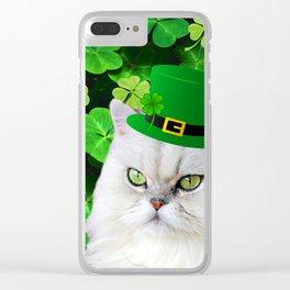Patricks Irish Cat Clear iPhone Case