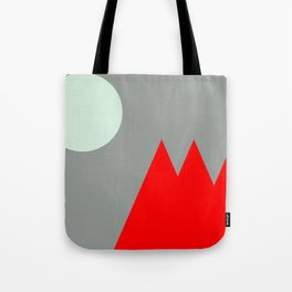 Red Mountains and Moon Tote Bag