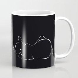 Sleeping cat (black version) Coffee Mug