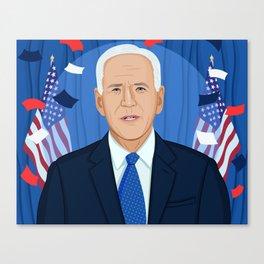 Joe Biden Canvas Print