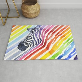 Animal Zebra Rainbow Rug