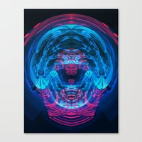 brain waves Canvas Prints featuring Brain Waves by Carlos Alberto Torres