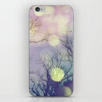 lunar iPhone & iPod Skins featuring Lunar Orbit by Olivia Joy StClaire