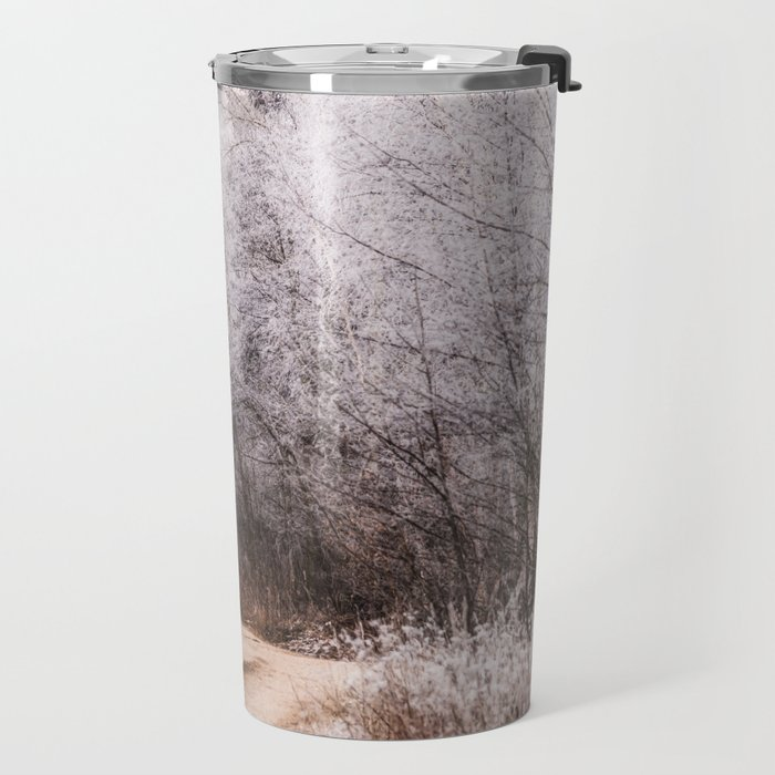 Winter in the village Travel Mug