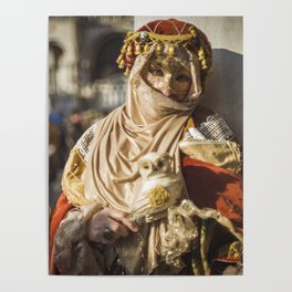 Middle eastern carnival mask in Venice (Italy) Poster