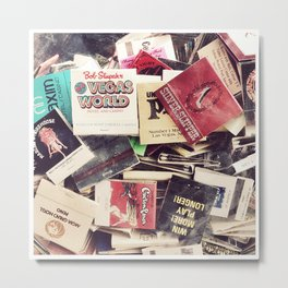 Vintage Matchbook Collection Metal Print