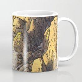 Rocky desert at sunset Coffee Mug