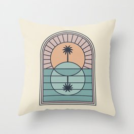 Venn Island Throw Pillow