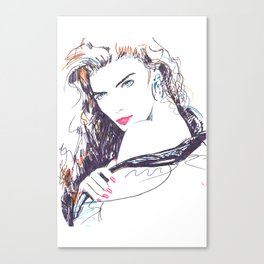 Woman look Canvas Print