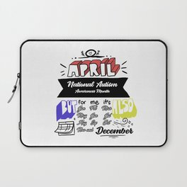 Autism Awareness Day Support Asperger Child Gift Laptop Sleeve