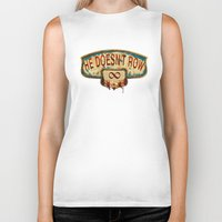 bioshock infinite Biker Tanks featuring Bioshock Infinite by Arts and Herbs