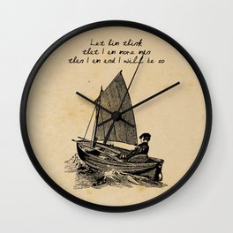 Ernest Hemingway - The Old Man and the Sea Wall Clock