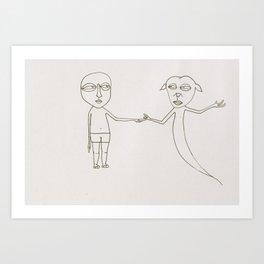 Just Friends Art Print
