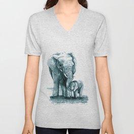 My Little Peanut (Elephants) Unisex V-Neck