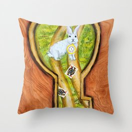 Follow the white rabbit - Alice in Wonderland Throw Pillow