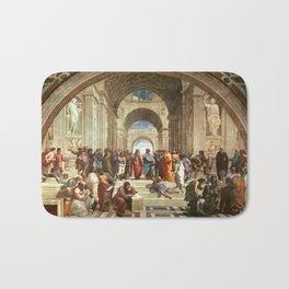 School Of Athens Painting Bath Mat