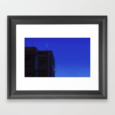 The city at night Framed Art Print
