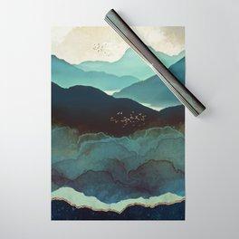 Indigo Mountains Wrapping Paper